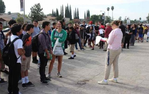 Students push through heat for first fire drill