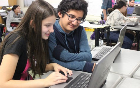 Students participate in the Hour of Code