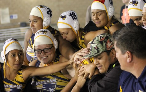 Girls water polo take the city championship win