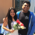Senior Cedric Eusantos promposed to fellow Senior Selena Olalde.