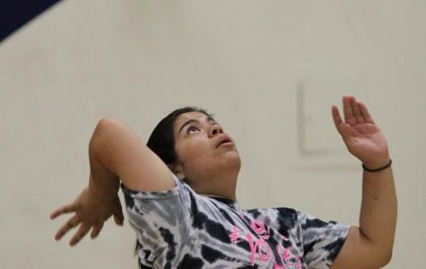 Girls volleyball trains with intent to win