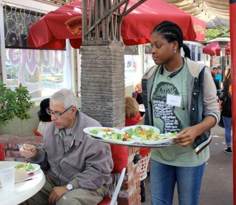 Interact Club members spent Thanksgiving feeding senior citizens