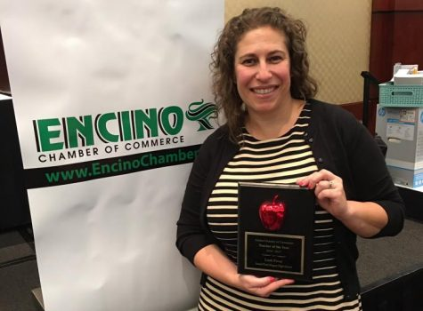 English teacher recognized for commitment to school