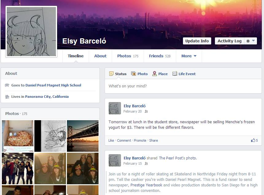 The key to having a profile that appeals to colleges is keeping it simple. No inappropriate photos or posts,  only clean items like panoramic shots of the skyline or some artwork. Photo by Elsy Barcelo