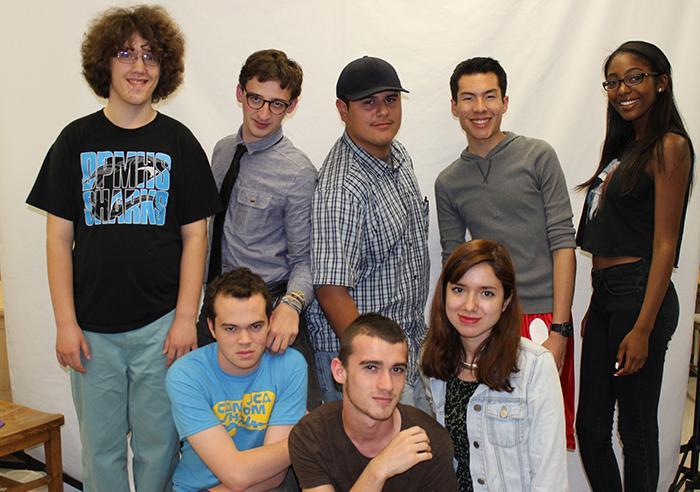 Top: Avidan Gurvis, Zach Alder, Enrie Amezcua, Carlos Gadoy, Emon Abdullah. Bottom: Elijah Zelonky, Timothy Smirnov and Alex Torres.