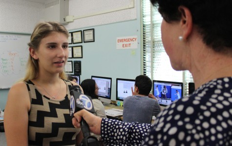 ABC 7 News visits The Pearl Post newsroom, story to air tonight
