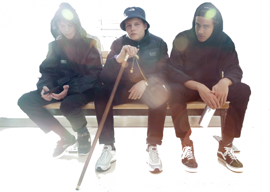 Yung Lean (center) is signed with the label Sad Boys. Photo from sadboys2001.com