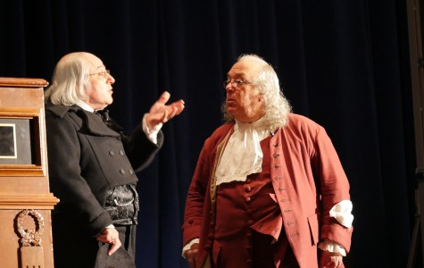 Before the first keynote address, convention attendees were treated to a brief skit featuring the Founding Fathers that focused on the importance of First Amendment rights. Photo by Julia Torres.