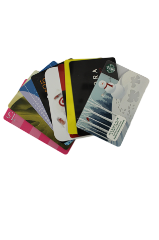 Almost every store has gift cards and have the option of setting how much money or choosing a limit, perfect for any price range.
