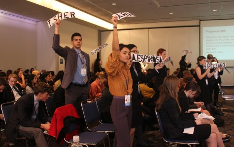 Students vote for their chosen delegate as a part of the