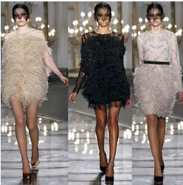 Feather dresses are one of the major dress styles that are coming to the forefront in 2015. Photo courtesy Creative Commons.