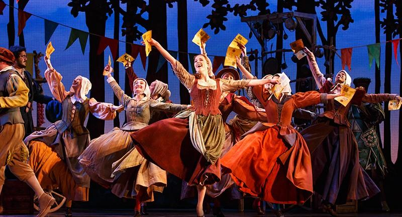The musical features choreography like ballet. Photo from cinderellaonbroadway.com