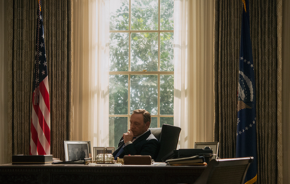 Kevin Spacey as antihero Frank Underwood. Photo from netflix.com