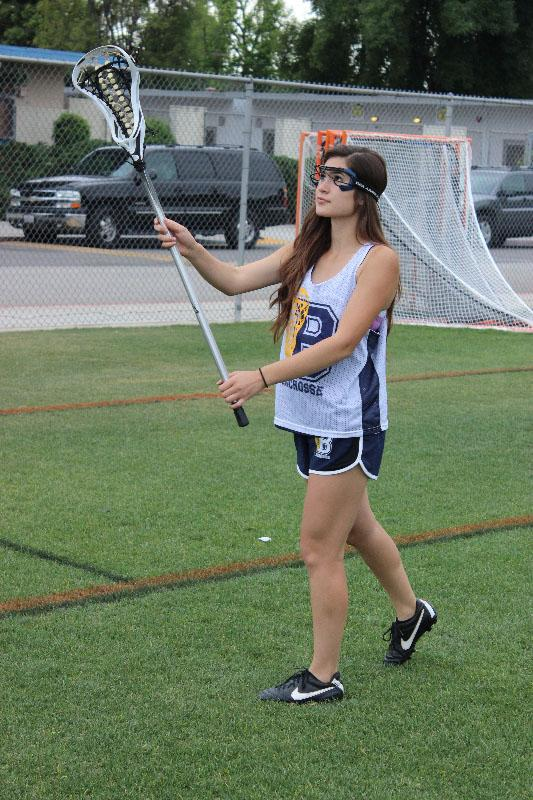 Sophomore Brianna Lopez works on her stick work during lacrosse practice at BCCHS fields.