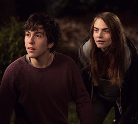 Nat Wolff and Cara Delevingne. Photo from twitter.com/papertownsmovie