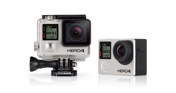 GoPro's new Hero4 is featured in its waterproof case which allows the product to go to depths of 197 feet.