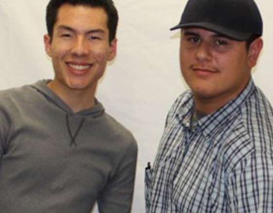 Alumni Enrie Amezcua is a Pierce College student majoring in journalism and alumni Carlos Godoy is a student at California State University Northridge majoring in graphic design.
