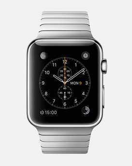 Apple has entered the wearable technology market with the Apple Watch. The device is meant to sync with your iPhone and has new features only on the watch. Photo from Apple.