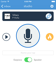 Rapchat lets users send quick audio messages to on another in the form of raps. Photo from Rapchat.