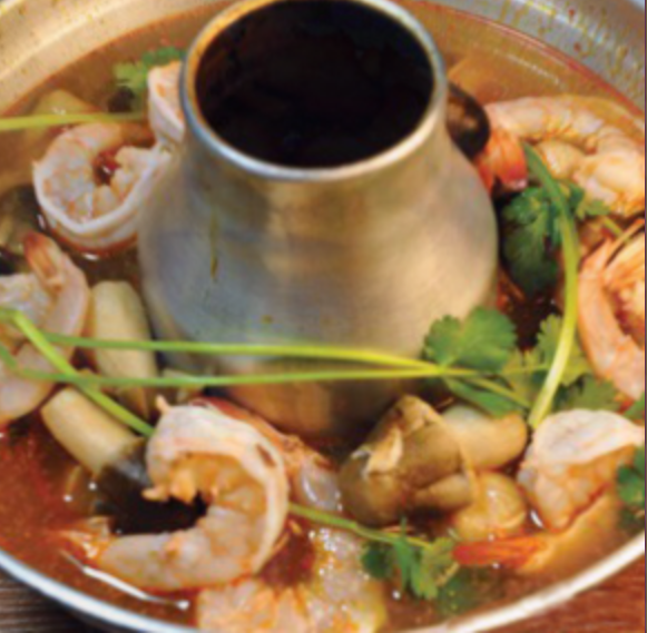 The Seafood Soup served at Krua Thai.