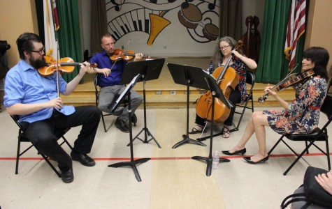 Kadima String Quartet plays for students