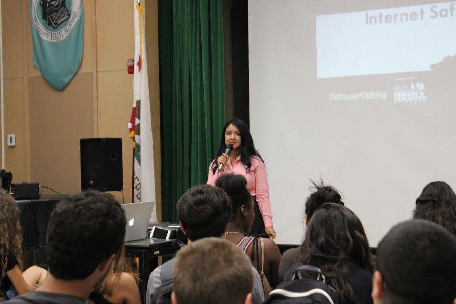 Juniors attended an Internet Safety Teen assembly in the MPR today.