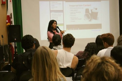 Presenter Monica Pinedo disucusses the dangers of putting too much personal information online for the public to see.