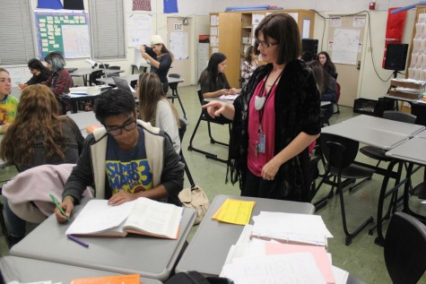 Leslie Hicks has been a dedicated teacher since the school was created and is still very dedicated to her students