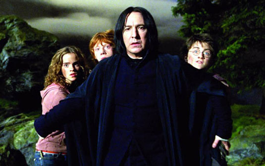 Alan Rickman was best known in his role as Professor Severus Snape in the