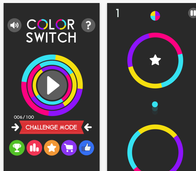 "Have fun with colors through the new app ""Color Switch"""