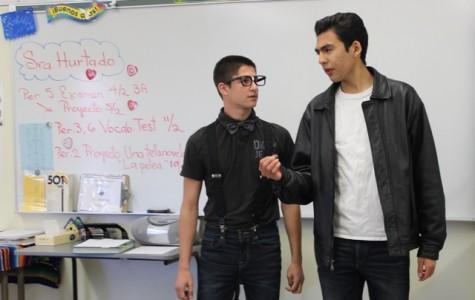 Students perform telenovela