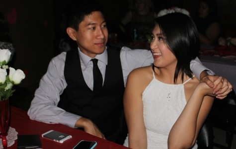 Jonas Acebes and his girlfriend at the Sadie Hawkins Dance on Feb. 19.