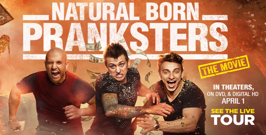 """Dennis Roady (howtoPRANKitup), Roman Atwood and Vitaly Zdorovetskiy (VitalyzdTV) embark on their movie premiere on """"Natural Born Pranksters."""" Roman Atwood is not only one of the stars but is also the mastermind producer of the movie. The three pranksters prove their clever skills in the movie where audiences are sure to laugh."""