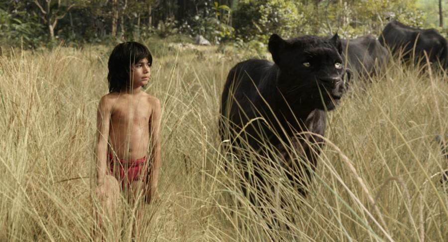 Neel+Sethi+plays+the+man-cub+Mowgli+and+Ben+Kingsley+plays+Bagheera%2C+the+black+panther+who+sees+himself+as+the+parent+figure+to+Mowgli.