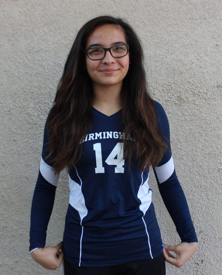"Sport played: Volleyball Position played: Setter defensive special- ist, opposite and outside hitter and setter. Years played: Four years. Highlights of being in sports: ""Building a strong bond with others."" How being an athlete helped you: ""Being a student athlete helps you work on being responsible because you have to practice for your game while getting school work done on time."" Do you plan on playing in college: ""Yes I do. Volleyball is my passion and there's nothing else I'd rather be doing."""