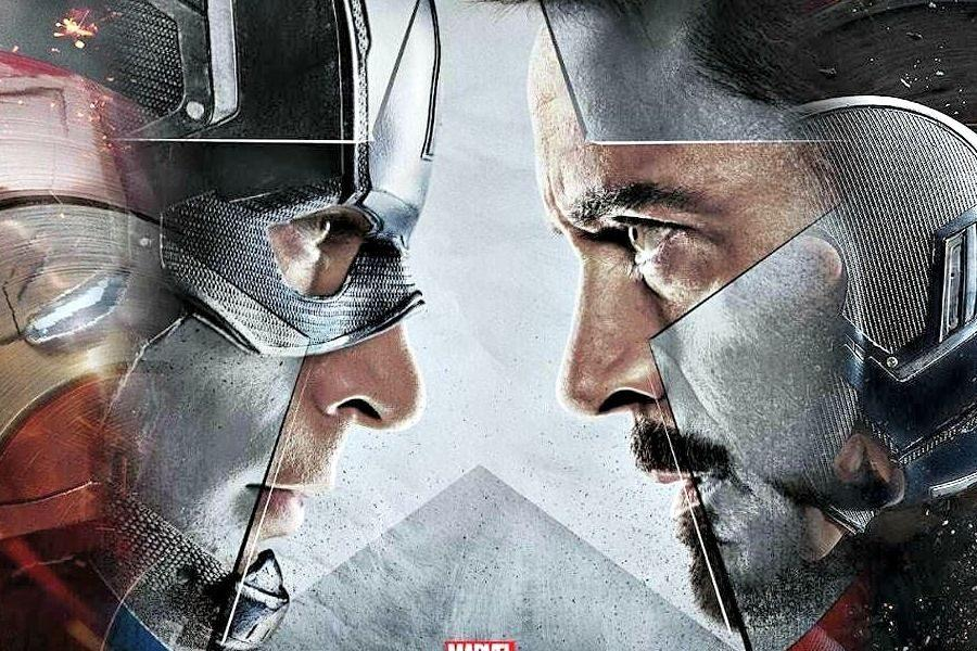 Captain America, starring Chris Evans and IronMan, played by Robert Downey Jr., square off in Marvel's Civil War coming out May 6