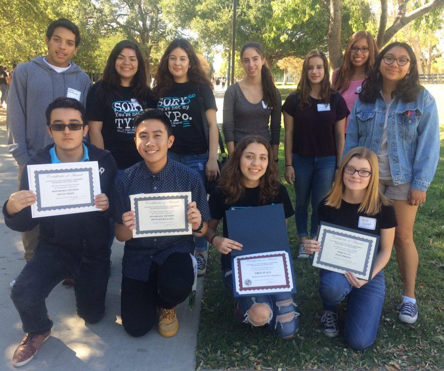 Photo by Adriana Chavira Newspaper students attended CSUN's annual write-offs and received four awards.