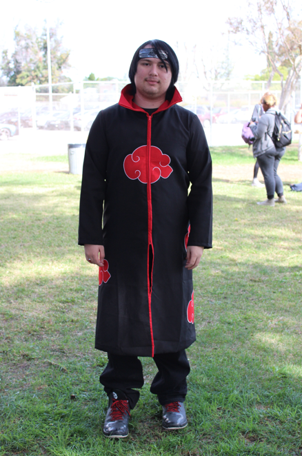 Tyler Loring dressed up as a character from Naruto.