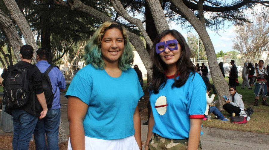 Genesis Ocampo and Emily Rodriguez dress up together as characters from the Rugrats.