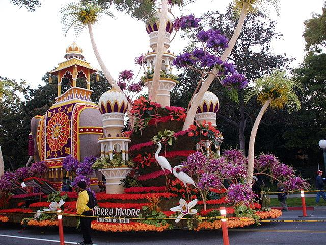 A flower float from the 2009 Rose Parade.