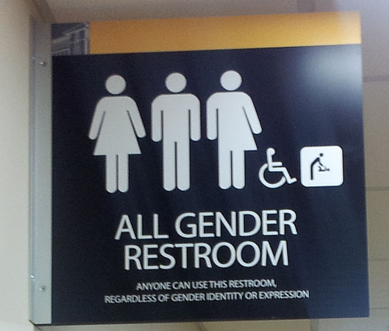One of the new laws that will be in affect is unisex bathrooms. This will take affect in March.