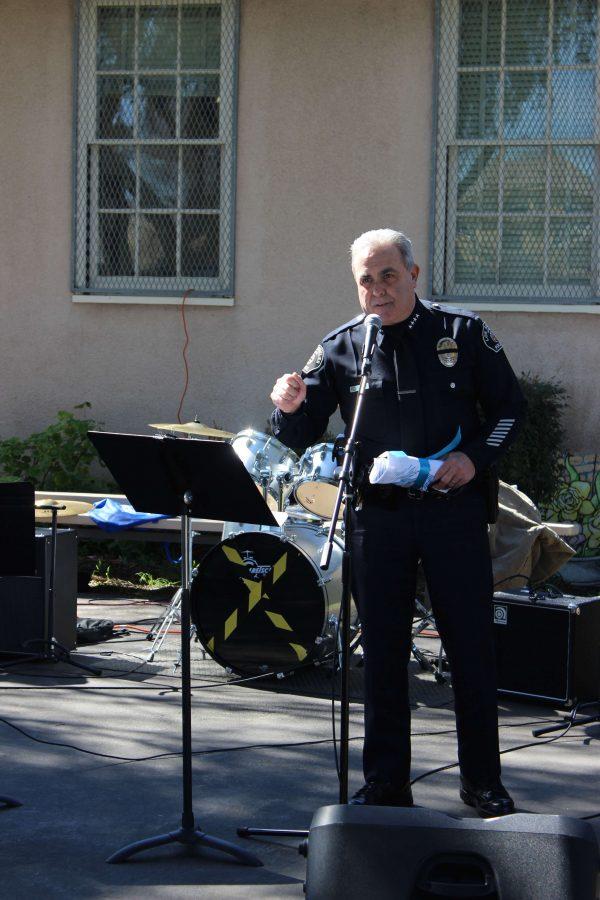 Chief Zipperman gives a speech.