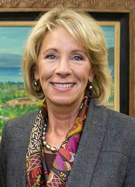 Photo by wikimedia.org Secretary of Education Betsy Devos has raised concern in the public school community because of her lack of experience with the diverse school systems and how they operate.
