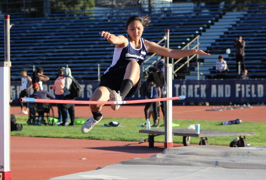 Freshman leaps to first place
