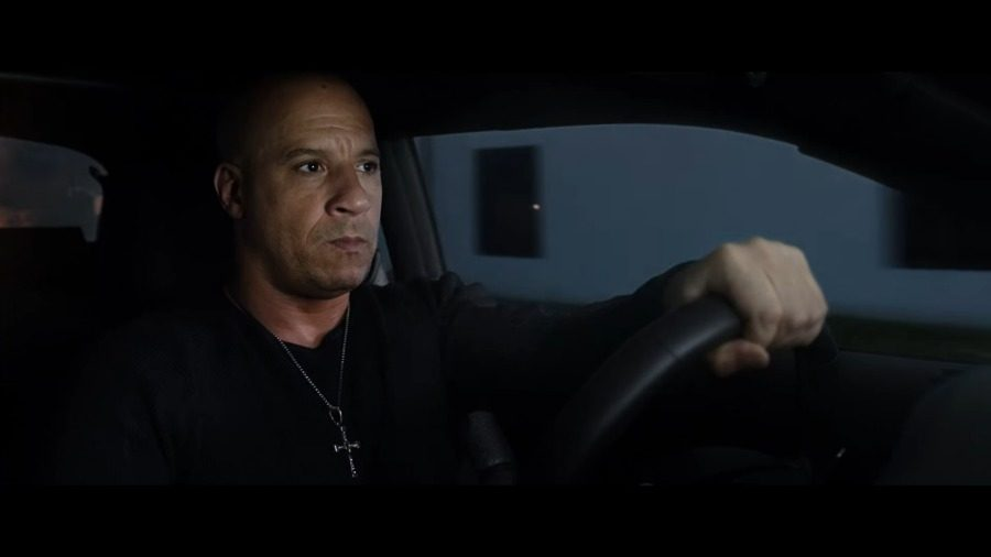"Screenshot from YouTube Dom (Vin Diesel) embarks on a new journey without his usual crew in ""Fate of the Furious,"" which drives into theaters on April 14."