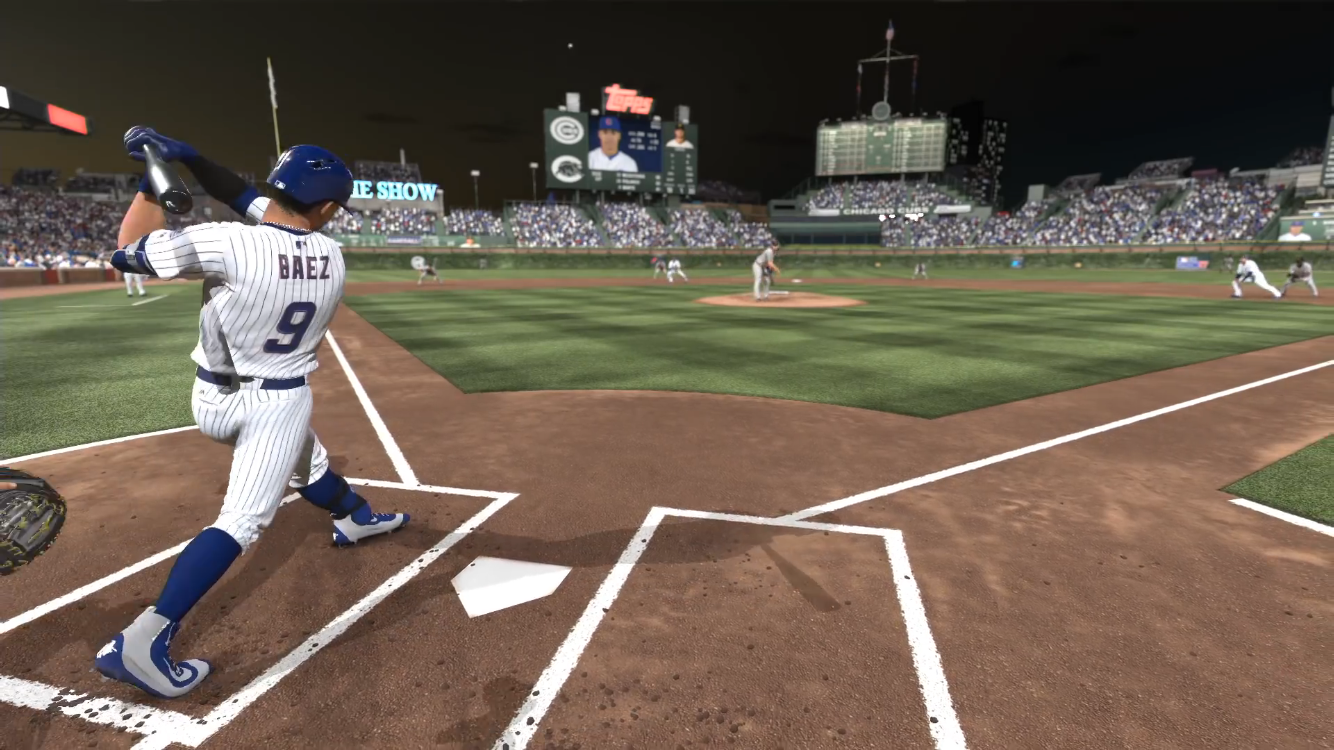 One game mode features a high quality version of a real Major League Baseball game.