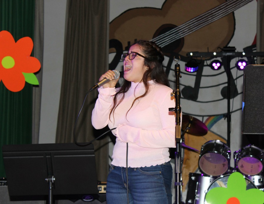 Senior Ana Monterroza performs a heartfelt song she dedicated to her mother at the Spring Concert on May 25.