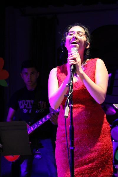 Senior Mallory Centeno performs