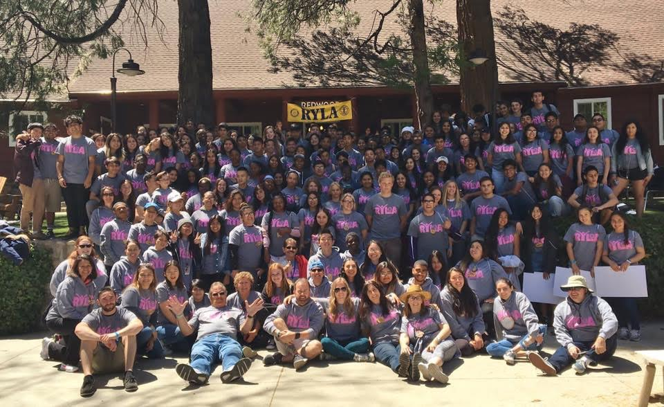 Alice Curran, Eva Kaganovsky and Michelle Kaganovsky attended RYLA, a leadership camp, with 175 other students from schools in California.