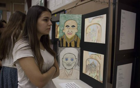 Students hold art exhibit and see Holocaust in a new perspective